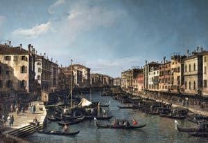 Canaletto, Venice Grand Canal from the Rialto Bridge towards Ca' Foscari, Galleria Nazionale Barberini in Rome