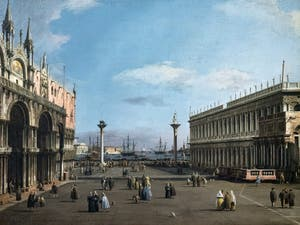 Canaletto, The Piazzetta with St. Mark's Basilica and the Marciana Library, Galleria Nazionale Barberini in Rome