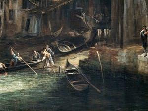 Canaletto, The View of Rio dei Mendicanti Canal at Ca' Rezzonico in Venice, Ca' Rezzonico Palace Museum in Venice