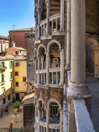 The Contarini del Bovolo Palace and its Helicoidal Staircase in Venice in Italy