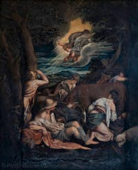 Bassano, The Angel announces the birth of Christ to the asleep shepherds, Atrium Doge's Palace in Venice in Italy