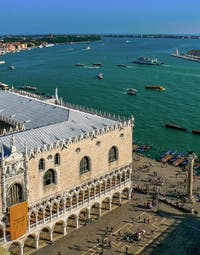 Doge's Palace in Venice in Italy