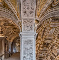 The Scala d'Oro, the Golden Staircase, Doge's Palace in Venice in Italy