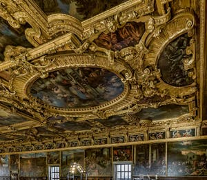 Grand Council Hall of the Doge's Palace in Venice