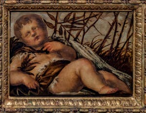 Tintoretto, Winter, Atrium Doge's Palace in Venice in Italy