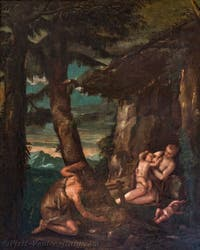 Paolo Veronese, Adam and Eve in the Garden of Eden, Atrium Doge's Palace in Venice in Italy