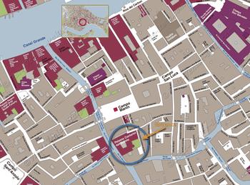 Plan de Situation du Musée Scala Contarini del Bovolo Palace à Venise Italie