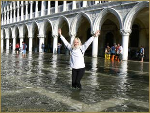 Acqua Alta Saint-Mark Square Venice Italy