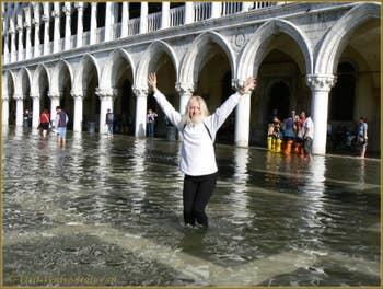 Acqua Alta Saint-Mark Square Venice Italy