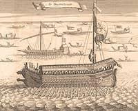 Engraving representative the Bucintore bucintoro
