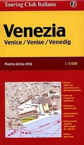 touring club italiano: detailed Map of Venice Italy