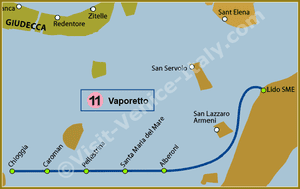 Line 11 Water Bus Vaporetto in Venice
