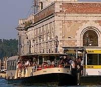 Station of Vaporetto of the Salute dorsoduro Venice Italy