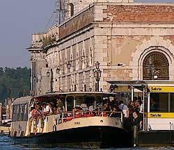 Station of Vaporetto of the Salute dorsoduro Venice Italy