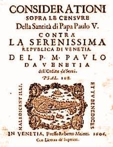 The Protesto from Paolo Sarpi