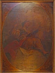 The fresco in the Ca' dell'Affresco dining room.