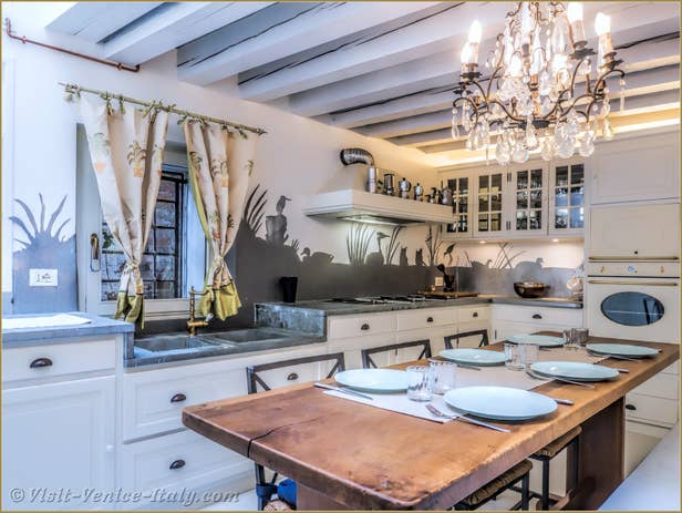 Alice Garden House Renta inl Venice , the kitchen