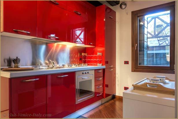 Flat Rental Corte Zappa in Venice, the kitchen
