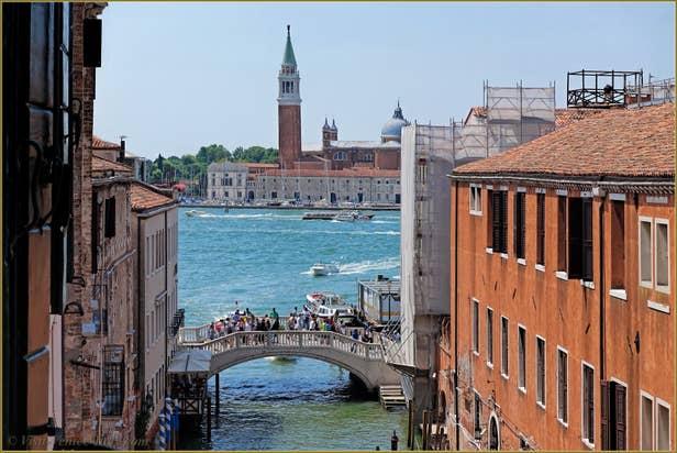 Rental Flat Greci View in Venice, view on  San Giorgio Maggiore Island