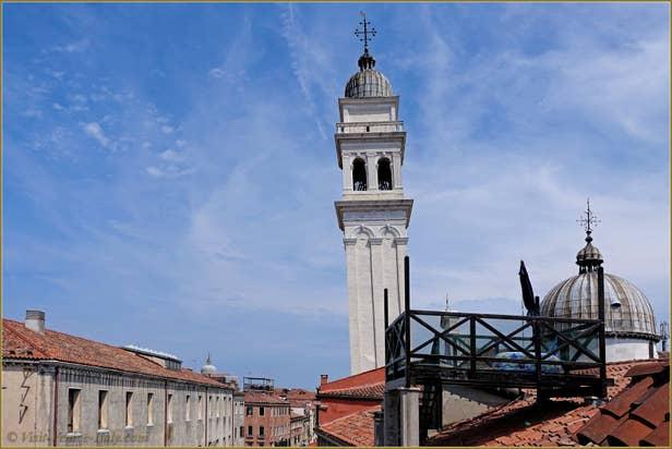 Rental Flat Greci View in Venice, wiew Greci campanile and church coupola