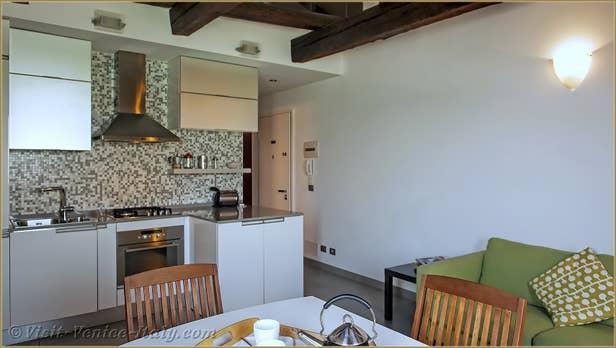 Location Laguna View à Venise, le salon salle à manger
