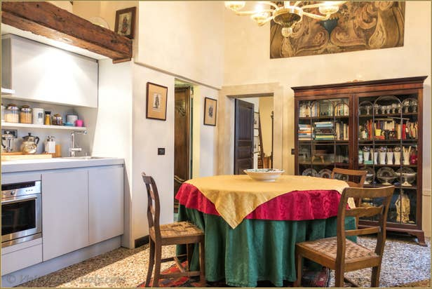 Flat Rental Venice Ponte Storto, the dinner room and kitchen