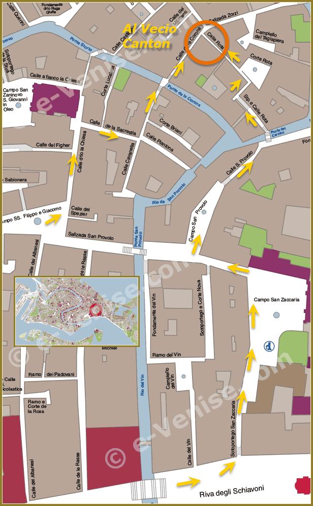 Pizzeria Al Vecio Canton Location in Venice
