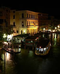 The Grand Canal Riva del Carbon Venice Italy night picture