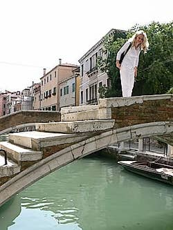 Daniela on the Bridge of Chiodo venice italy