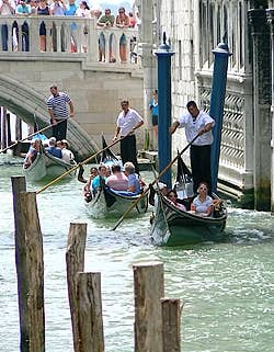 Under the Bridge of Sighs Venice Italy