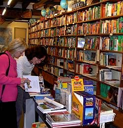 The Marco Polo bookshop in Venice Italy