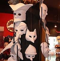 Venetian masks Ca' Macana Venice Italy