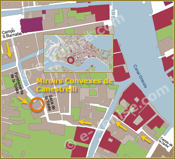 Location Map in Venice of Canestrelli shop