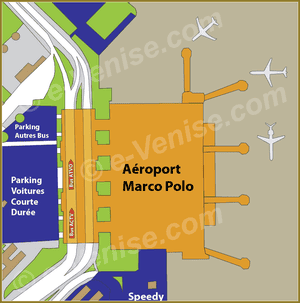 Bus Station Map ACTV  ATVO at airport Marco Polo in Venice