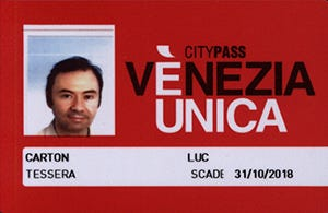Water Bus Venezia Unica  Special Prices Card in Venice Italy
