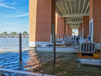 Water-Taxis Pier at Airport Marco Polo in Venice