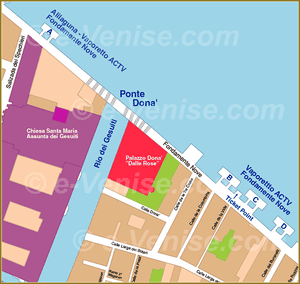 Venice Water Bus Piers map Fondamente Nove ACTV